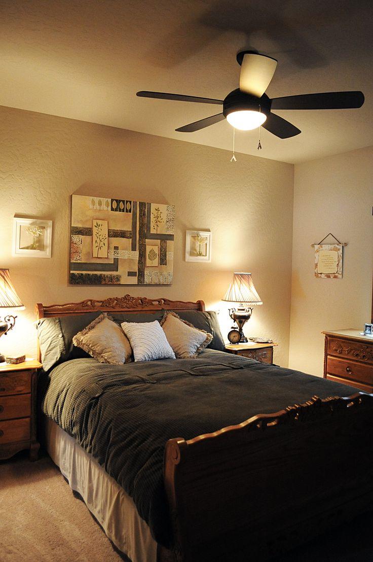 Bedroom with fan.