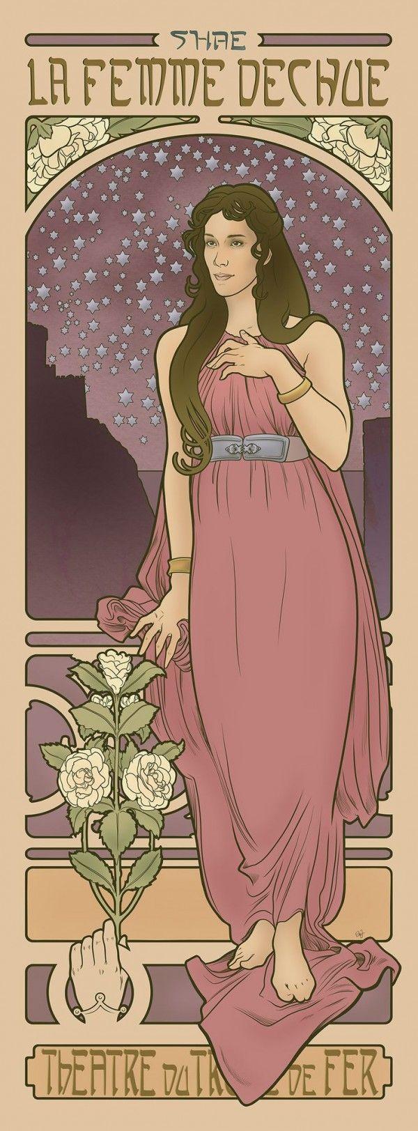 Les filles de Game of Thrones dans le style Art Nouveau
