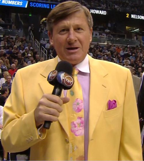 Craig Sager yellow, purple detail.