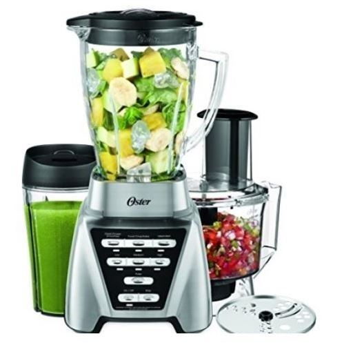 Blender Food Processor Combo Oster 2-in-1 Smoothie Slice Dice Ice Crusher Blend #Oster