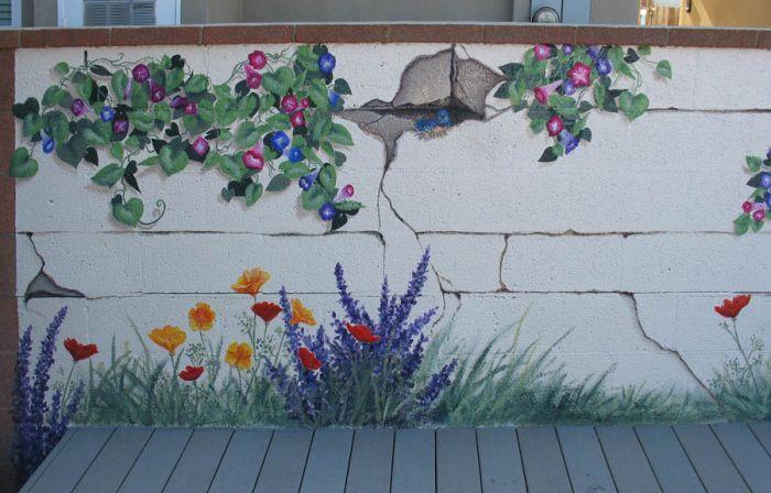 Best 25 garden mural ideas on pinterest mural painting for Best mural paint