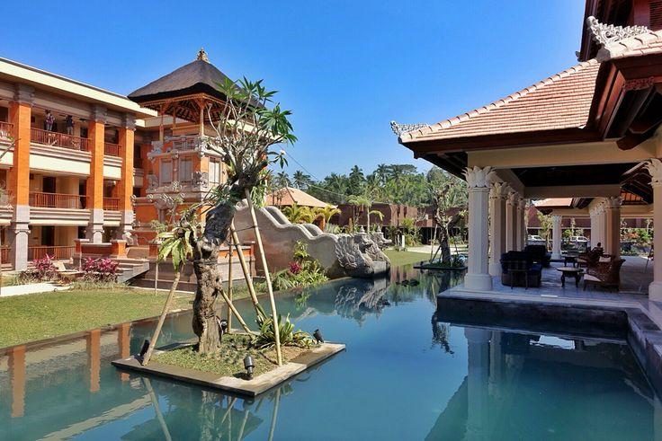 Bali kul kul around the wantilan lobby at Padma Resort Ubud.
