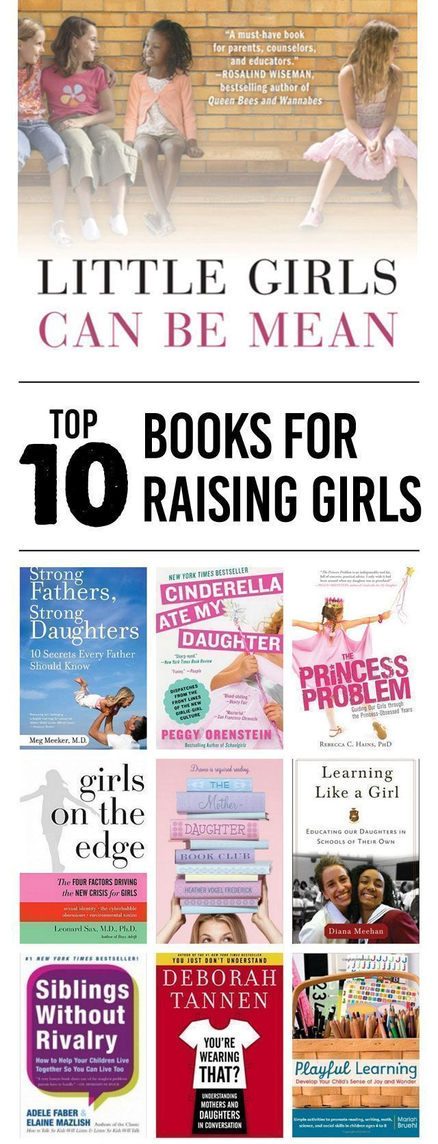 Next month, I'll be having my third child and my third girl. Which means that parenting little girls is always on my mind. Whether you have a single daughter or a whole slew of them, these books are full of great advice on how to handle all manner of parenting issues, from education to bullying … #ParentingDaughters #ParentingSkills #parentinggirls