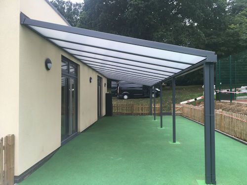 This 13m x 3.6m Coniston Wall Mounted Canopy was installed by our  fitting team at Lockers Park School  http://www.ablecanopies.co.uk/i/hertfordshire/hemel-hempstead/lockers-park-school.html