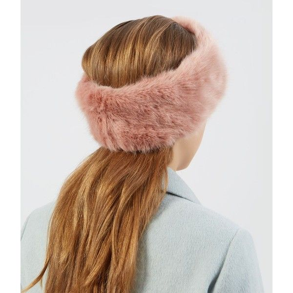 Pink Faux Fur Headband ($9.26) ❤ liked on Polyvore featuring accessories, hair accessories, head wrap headband, headband hair accessories, pink headband, faux fur headband and hair band headband