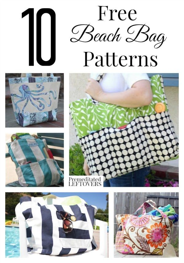 Check out these Free Beach Bag Patterns including mesh beach bag pattern idea, canvas beach bag patterns, beach towel totes, & easy DIY beach bag sewing tutorials. These easy sewing crafts project also make a great gift. Frugal gifts idea.