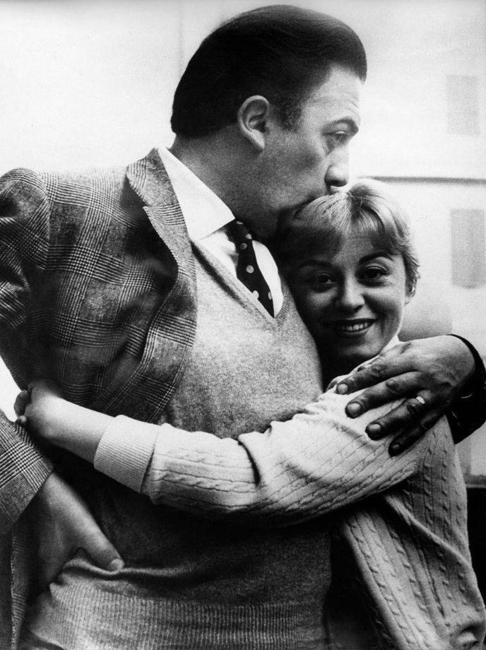 Federico Fellini with Giulietta Masina