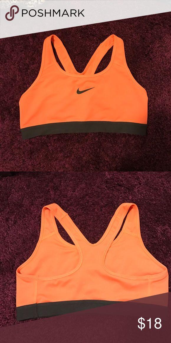 Nike sports bra! Bright orange sports bra! Razor back!  Nike NEVER WORN Nike Tops