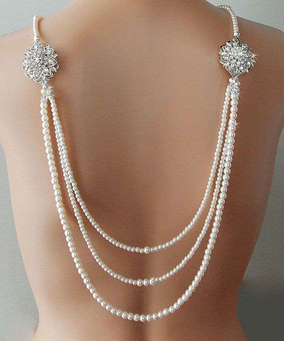 Hey, I found this really awesome Etsy listing at https://www.etsy.com/uk/listing/197435129/backdrop-necklace-bridal-necklace-pearl