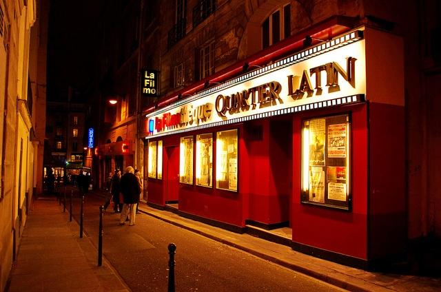 Cinéma La FilmoThèque, rue Champollion, Quartier Latin, Paris.