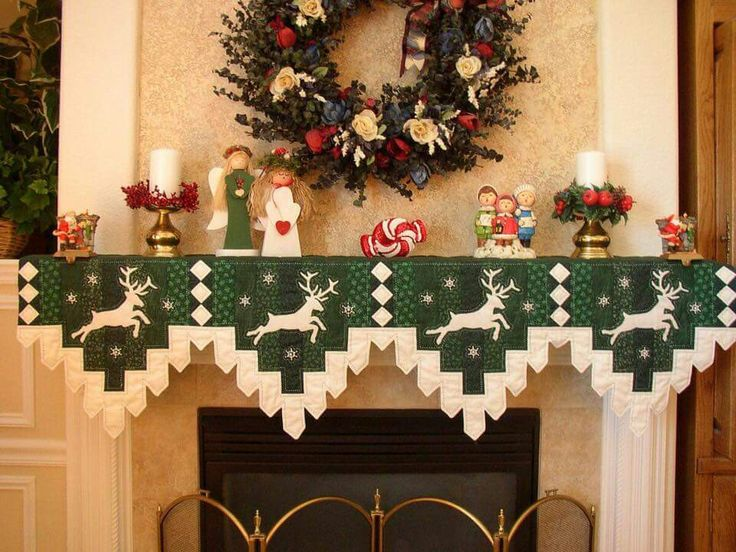 9 Best Mantle Scarf Images On Pinterest Christmas