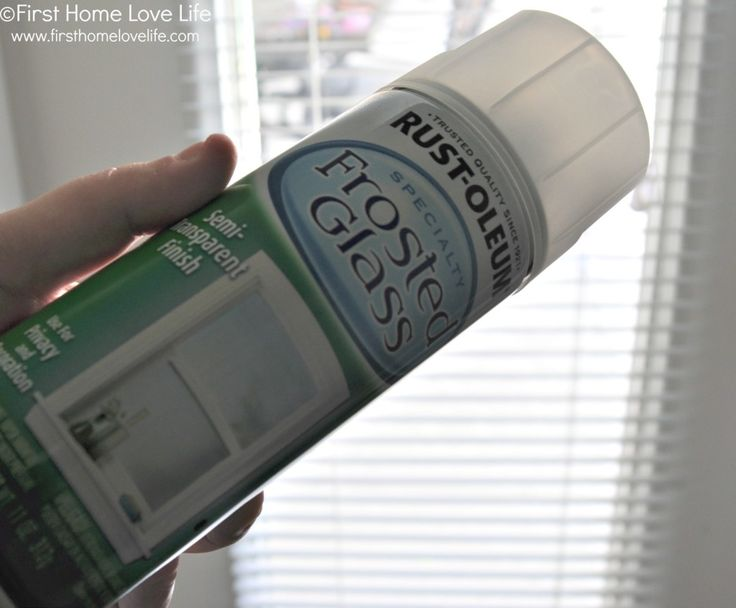 Rustoleum frosted glass spray paint - awesome idea for French doors. Gives privacy but keeps the light.