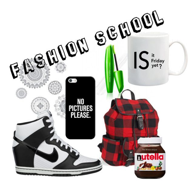 """""""Fashion School"""" by oco0004 on Polyvore featuring COVERGIRL, WallPops, Aéropostale, NIKE and Casetify"""