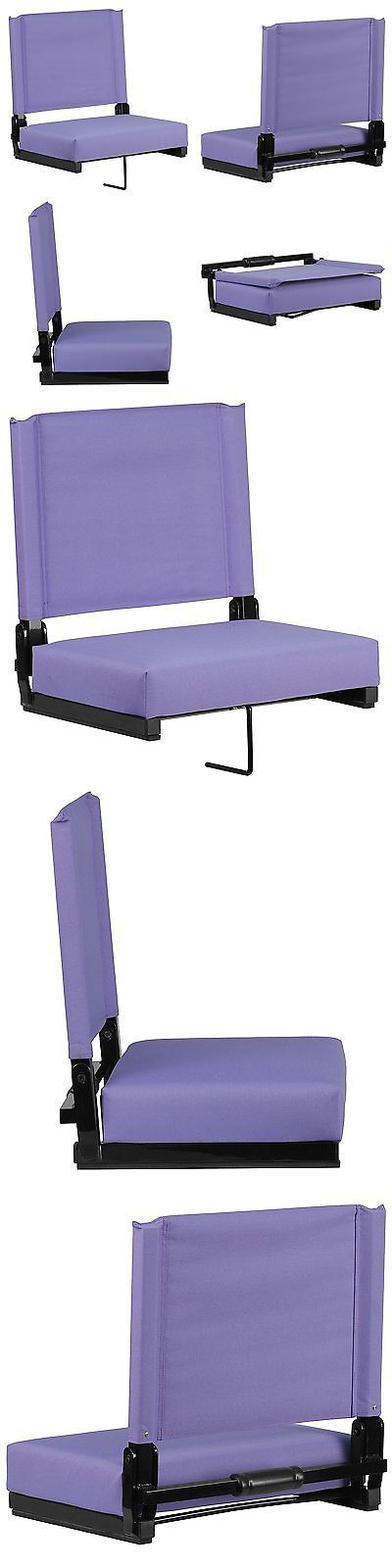 Other Outdoor Sports 159048: Bleacher Seats With Backs Purple Stadium Chair Cushion Comfy Portable New! BUY IT NOW ONLY: $47.75