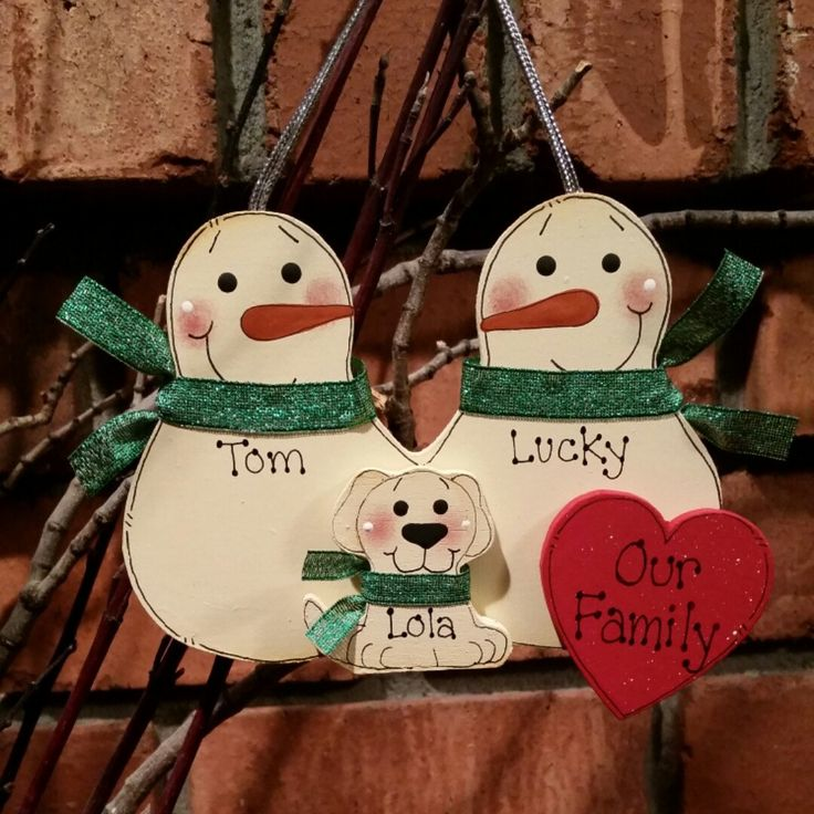 ... Members: Personalized Snowman & Pet Ornament | Snowman and Families
