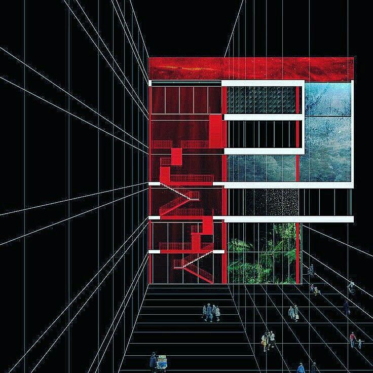 """Politecnico di Torino   """"The Modernity Church"""" conceptual section project for via Plava, Turin"""