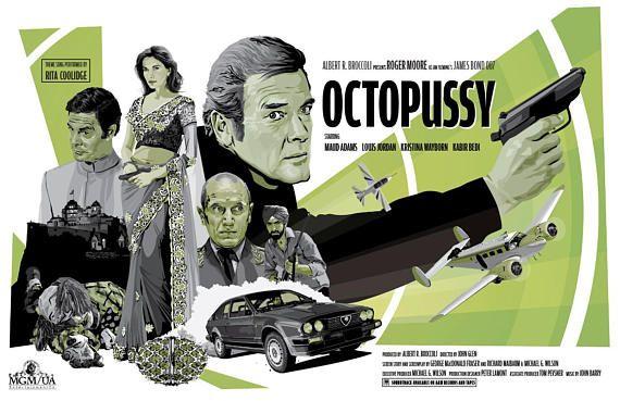James Bond 007 Unofficial Fan Art Octopussy 17 X Etsy James Bond James Bond Movies James Bond Movie Posters