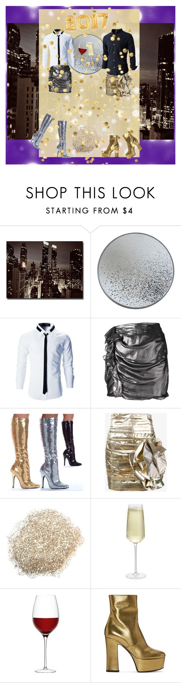 """""""Happy New Year!"""" by badstan ❤ liked on Polyvore featuring Trademark Fine Art, Notre Monde, Isabel Marant, Ellie, Faith Connexion, Crate and Barrel, LSA International, Yves Saint Laurent, men's fashion and menswear"""