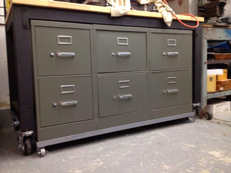 Superb Filing Cabinets Modified Into Tool Cabinet/rolling Work Bench | Garage  Workshop | Pinterest | Tool Cabinets, Garage Workshop And Garage Shop
