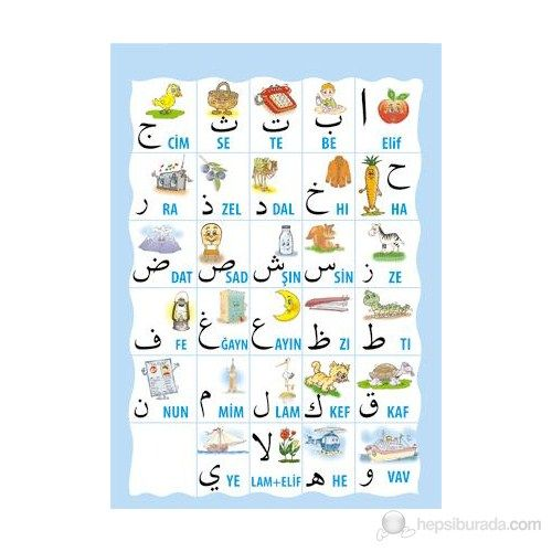 Kuran Elifbası Posteri (Harfler)