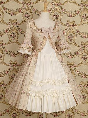 ANTOINETTE DRESS (FLEUR)  in Antique Beige