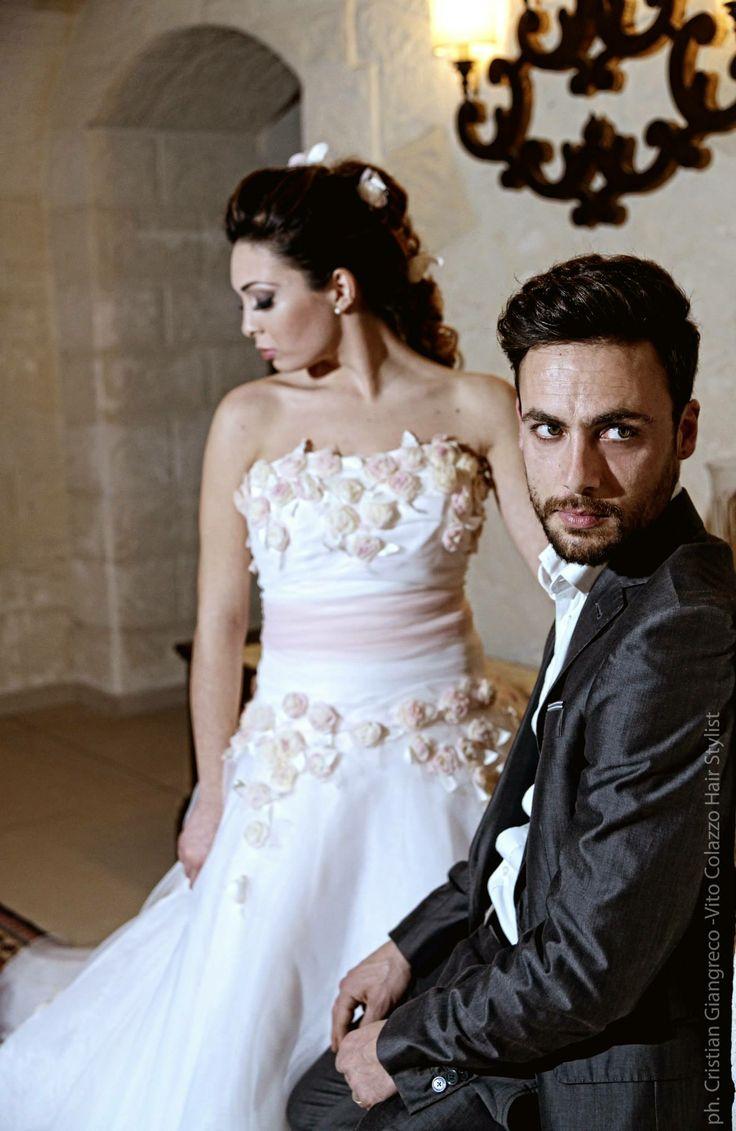 Woman's Hair & Make Up Elisa Colazzo, Man's Hair Fabrizio Colazzo. Ester Rizzo testimonial 2014 Vito Colazzo Parrucchieri #hair #wedding #vitocolazzoparrucchieri