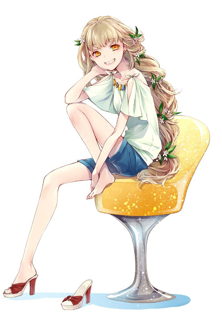 Tags Anime, Mikuni Pixiv2629209, Orangina-Tan, Drinks