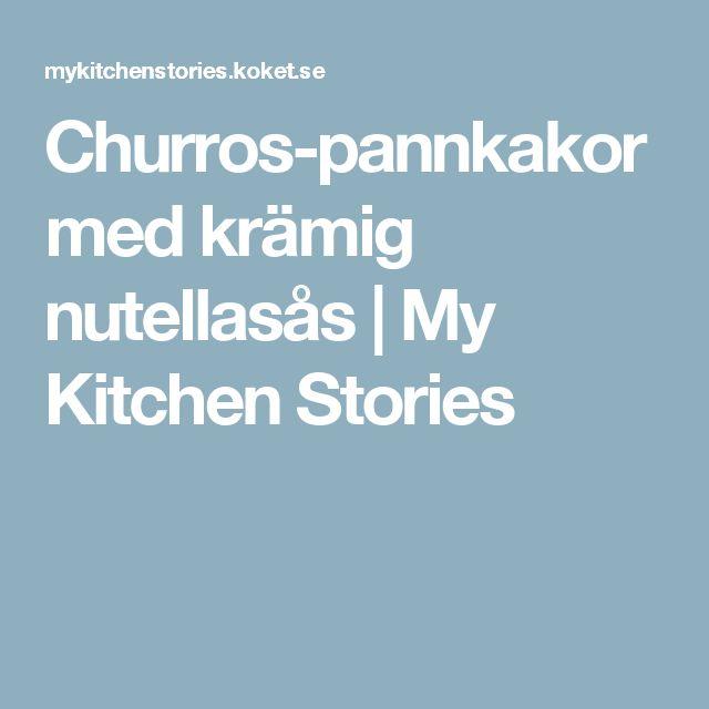 Churros-pannkakor med krämig nutellasås   My Kitchen Stories