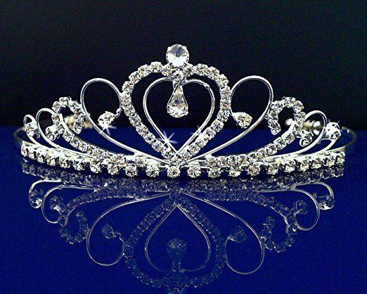 Rhinestones Crystal Wedding Bridal Prom Pageant Princess Costume Tiara Crown 42206