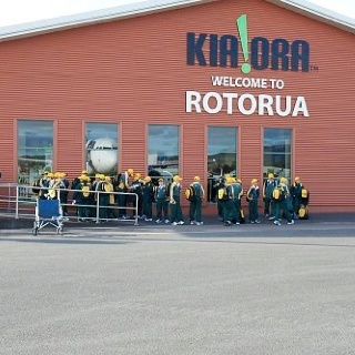 Arriving at Rotorua