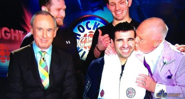 Don Cherry kisses Nazem Kadri