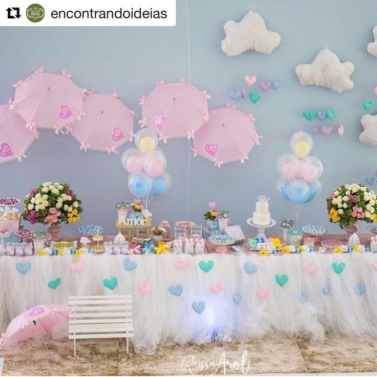 """Karina Farnezi on Instagram: """"Bom dia!!! Como@nossa festa de chuva de amor no @encontrandoideias !!!! Fabíola acompanhando nosso trabalho há muitos anos!!!!!…"""""""