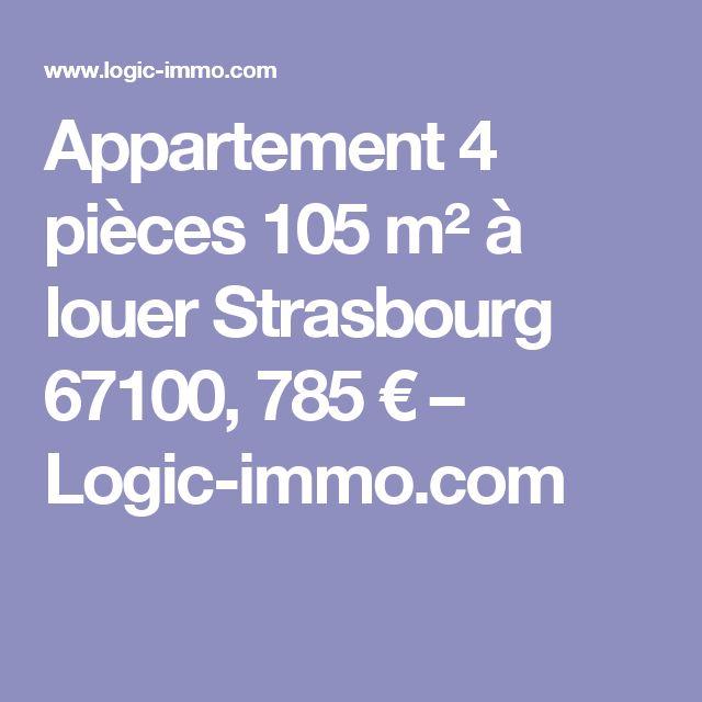 Appartement 4 pièces 105 m² à louer Strasbourg 67100, 785 € – Logic-immo.com