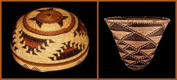 Northern CA Indian baskets.
