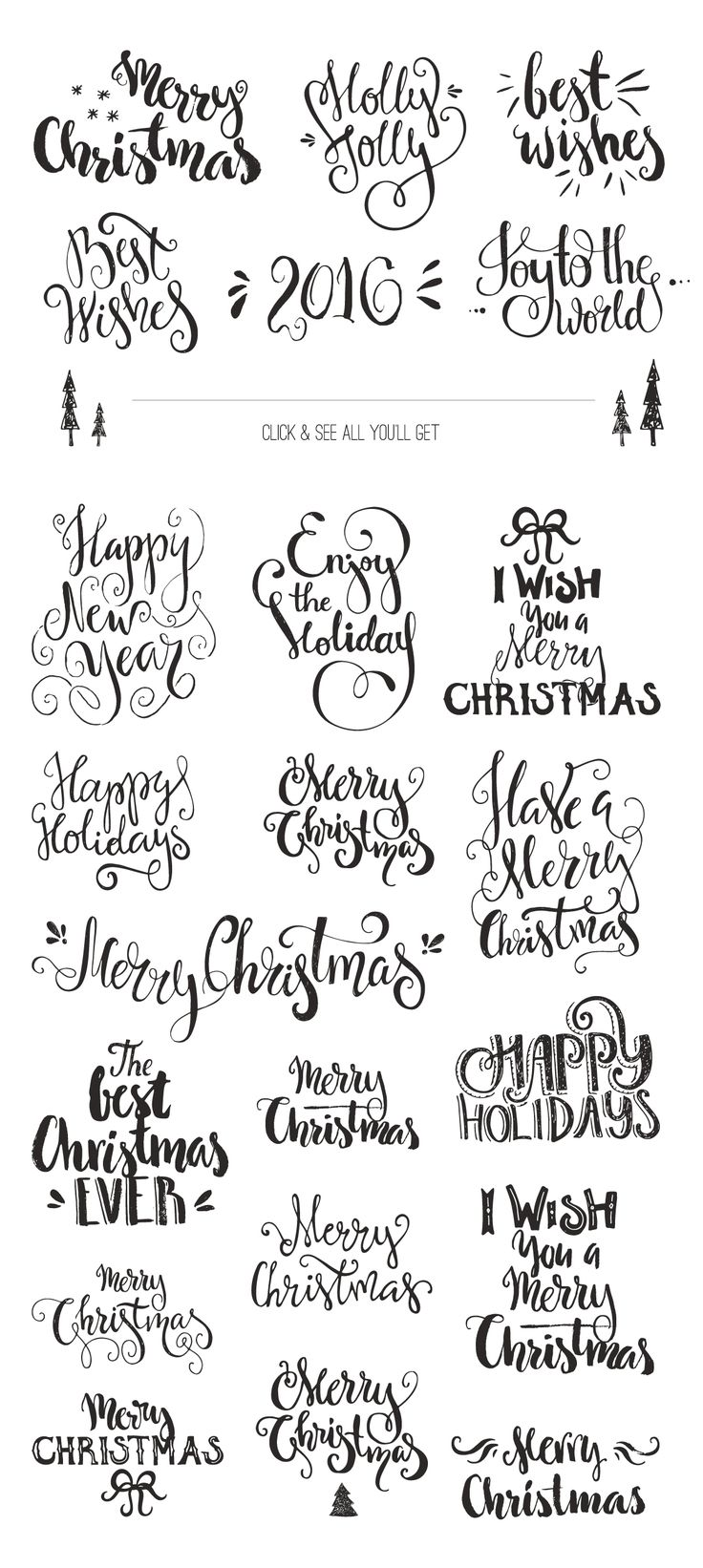 Handdrawn Christmas Photo Overlays by Favete Art on Creative Market