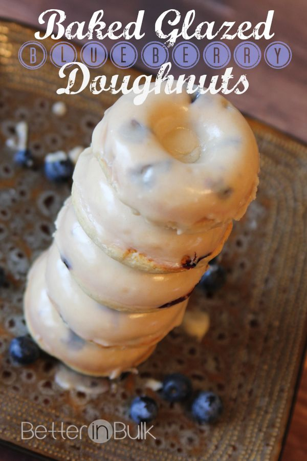 baked glazed blueberry doughnuts #recipe #donut