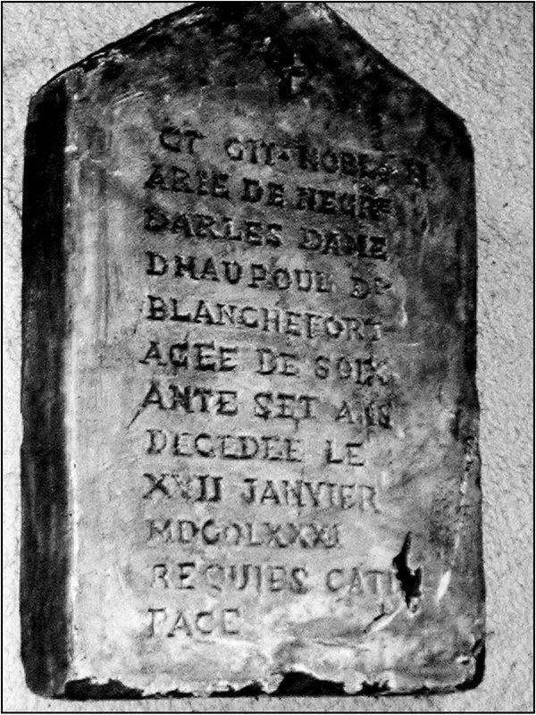 THE TOMBSTONE OF MARIE HAUTPOUL DE BLANCHEFORT - Key of a Secret ...