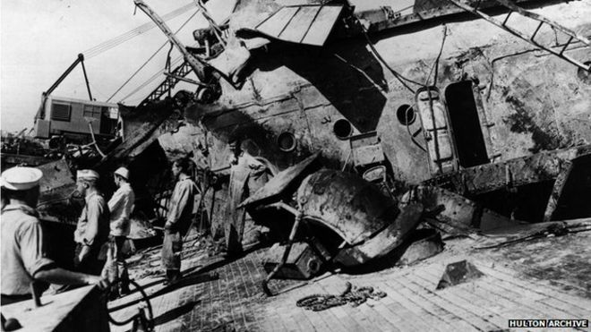 Salvage crew aboard USS Oklahoma, 1942. US to exhume remains of Pearl Harbor dead for identification. The remains of nearly 400 US servicemen killed at Pearl Harbor are to be exhumed so they may be identified and given individual burials, the US says. The sailors and Marines were aboard the battleship USS Oklahoma when it was struck by Japanese torpedoes in 1941. Their remains were buried together in Hawaii. The identification effort will use advances in forensic and DNA testing, US defence…