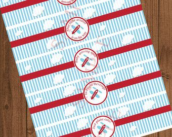 Airplane Baby Shower Party Package / por LittlePrintsParties