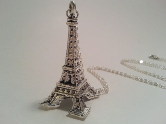 Long necklace with a medium sized Eiffel tower by HadesLadies