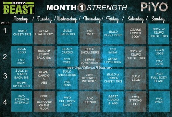 Beachbody Power 90 Workout Schedule