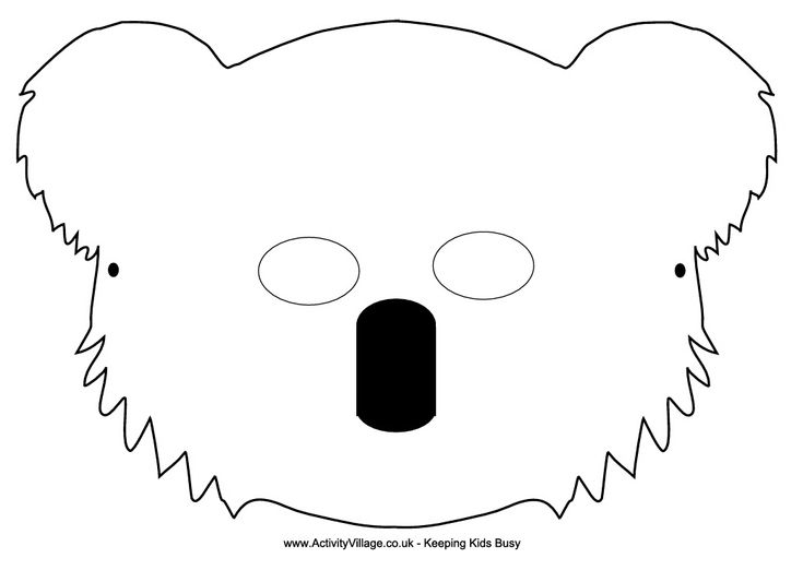 koala mask activity village