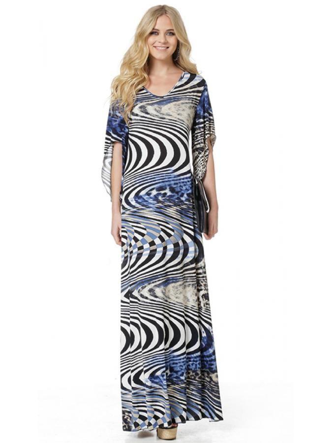 RAXSTA Εμπριμέ μάξι φόρεμα Cool Jersey