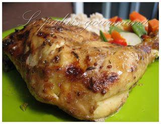 Le palais gourmand: Cuisses de poulet grillés et marinés à la dijonnai...