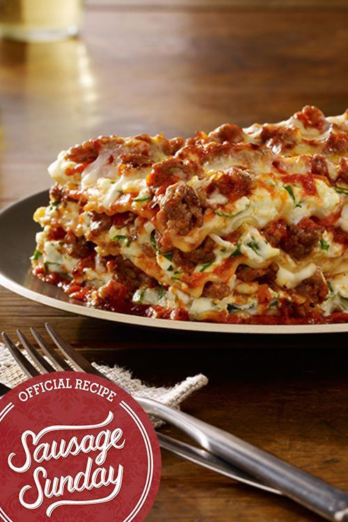 Italian Sausage Lasagna- Up your lasagna game with Johnsonville Sausage. It's a…