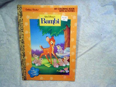 1996 Walt Disneys Bambi Coloring Book Golden