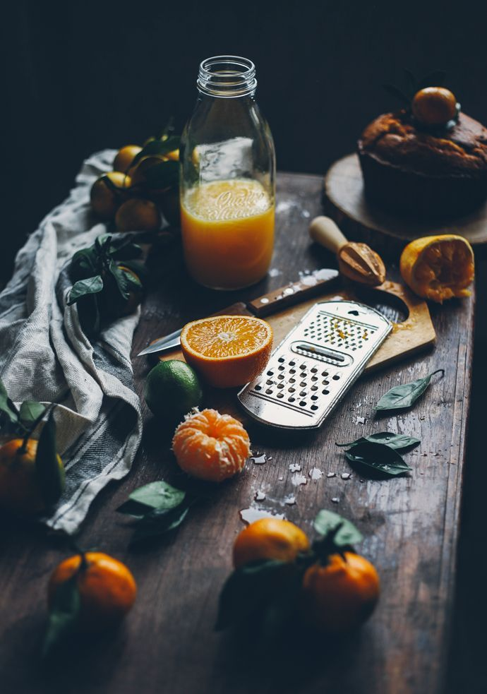 "Food Photography & Styling Inspiration | Citrus cake with ""Cointreau"" liqueur & lemon recipe"