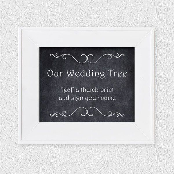24 best wedding project fingerprint guest book images on free our wedding tree chalk sign fingerprint guest book sign sciox Images