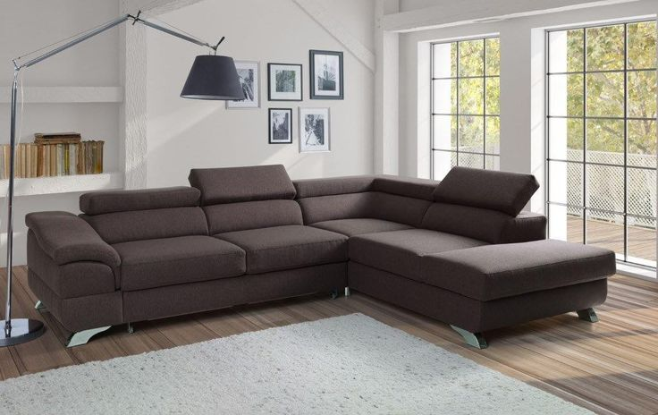 ZITA - a great place to gather in the living room.  -L-shaped -available in many colors or possibility to personalize your own composition of material -sleeping area 77.5 x 49.5 in – movable headrest -storage -made in Europe  DIMENSIONS:  Length: 107 in Width: 87 in Height: 33.5 in