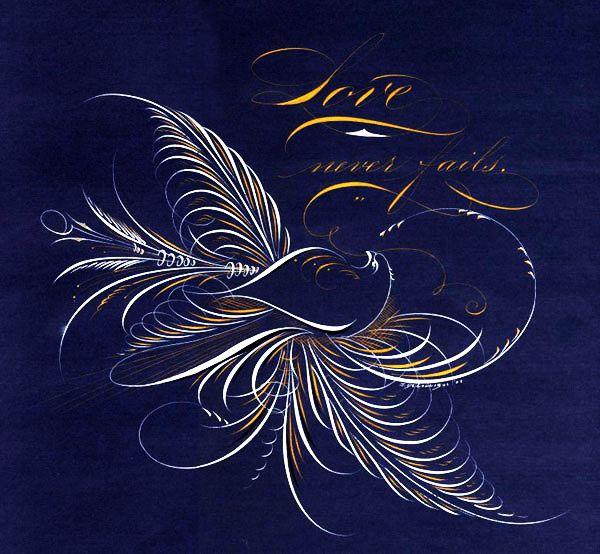 128 Best Ornamental Calligraphy Penmanship Flourish Images